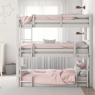 Avenue Greene Nola White Triple Bunk Bed