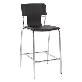 Porch & Den Florence 26-inch Vinyl Counter Stool with Chrome Base (Set of 2)