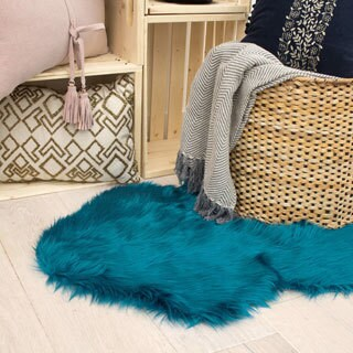 Jean Pierre Faux-Fur 28 x 48 in. Area Rug - 2'4 x 4'