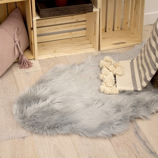 Shop Jean Pierre Faux Fur 24 X 36 In Area Rug Free