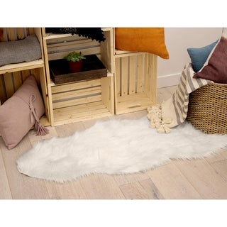 Jean Pierre Faux-Fur 22 x 60 in. Runner Area Rug - 1'10 x 5' (More options available)