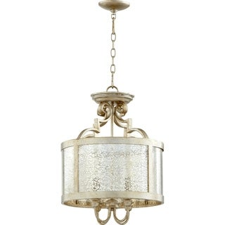 Champlain Aged Silver and Vintage Champagne 4-light Pendant