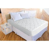 Splendorest Iso-Cool Polyester Mattress Pad - White Twin Size (As Is Item)