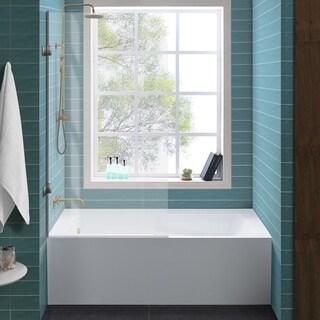 Swiss Madison Alcove Soaking Tub w/Apron Skirt 60/30 Left Hand