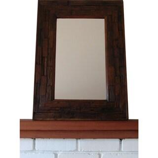 Handmade Teak Wood Large Wall Mirror (Thailand)