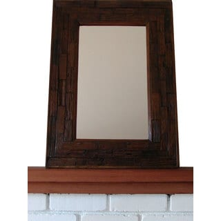 Handmade Teak Wood Large Wall Mirror (Thailand)