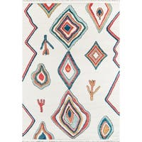 Momeni Monaco Polyester and Polypropylene Machine-Made Multicolored Area Rug (8'6 x 11'6)