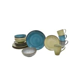 222 Fifth Speckled 16-Piece Dinnerware Set