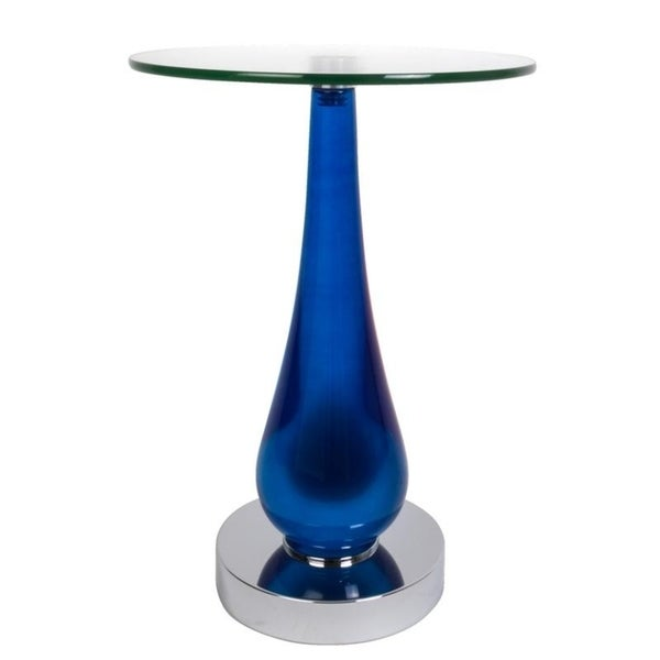 Van Teal 734711 Royal Blue Acrylic Round Accent Table