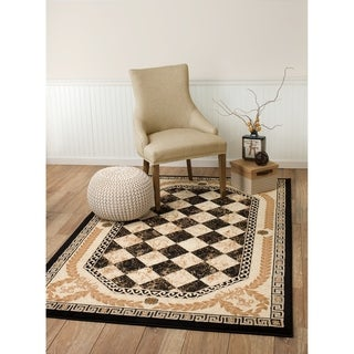 "Summit Black Diamond Area Rug - 3'8"" x 5'"