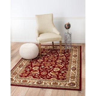 "Summit Burgundy Saruk Area Rug (8' x 11') - 7""4' x 10'6'"
