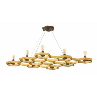 Fredrick Ramond Moxie 8-Light Chandelier in Sunset Gold
