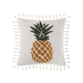 """Oceanfront Resort Sunwashed Isle 16"""" Square Decorative Pillow"""