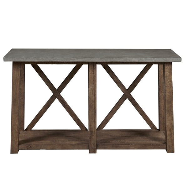 Farmhouse Style Distressed Sofa Table. Opens flyout.