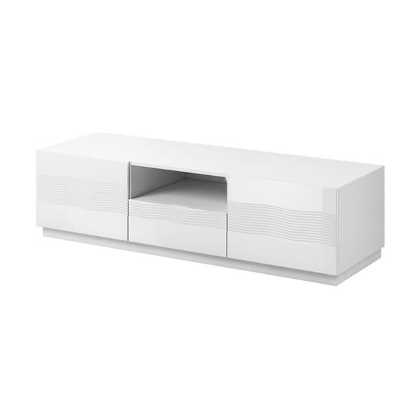 Shop Alabaster White Modern Tv Stand With Storage On Sale Free