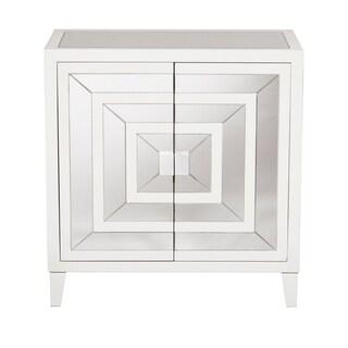 Square Mirror Overlay Door Chest
