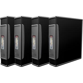 "Storex DuraGrip Binder+ Hard Cover/ 2""-Inch / Black (4 units/pack)"