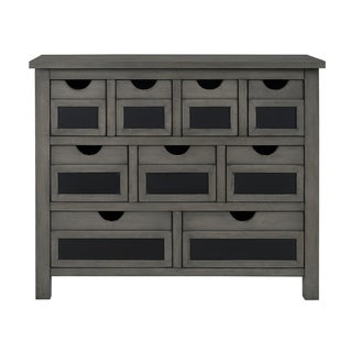 Grey Chalkboard Fronts Drawer Chest