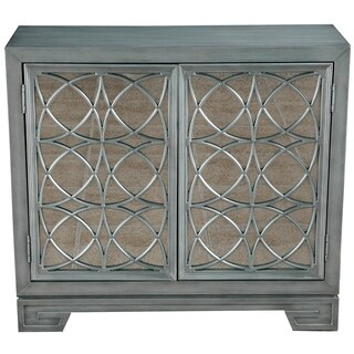Shop Candice Ocean Blue Accent Cabinet Free Shipping