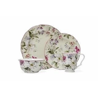 222 Fifth Gisela Cream 16-Piece Dinnerware Set