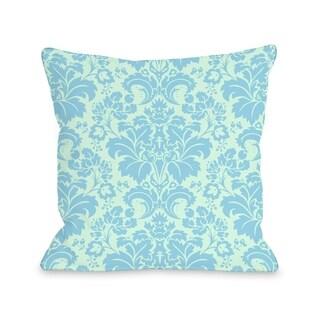 Altair Fleur - Light Green Blue  Pillow by OBC