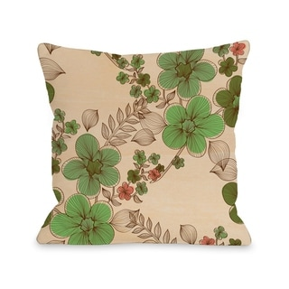 Elegant Sweep - Wood Green Multi  Pillow by OBC