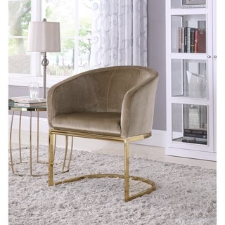 Chic Home Livorno Velvet Upholstered Half-Moon Accent Club Chair