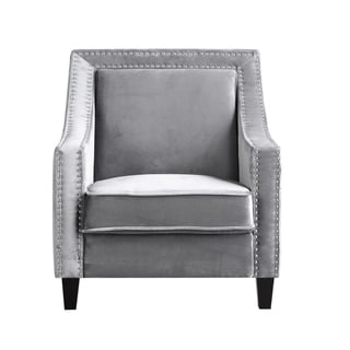 Link to Chic Home Kameron Velvet Upholstered Accent Club Chair Similar Items in Living Room Chairs