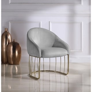 Chic Home Vivienne Velvet Upholstered Half-moon Accent Club Chair