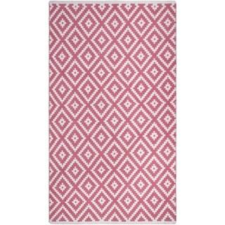 Handmade Chanler Blush Indoor/Outdoor Floor Rug (India) - 3' x 5'