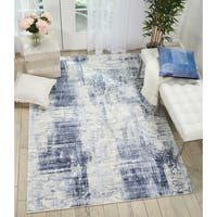 "Kathy Ireland Vintage Abstract Blue Area Rug by Nourison - 3'9"" x 5'9"""