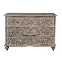 Traditional Style Pecan Finish Three Drawer Accent Storage Chest