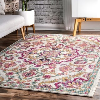 nuLoom Contemporary Modern Multi Blooming Medallion Area Rug (9' x 12')