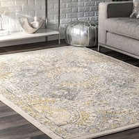 nuLoom Gold Traditional Honeycomb Area Rug - 8' x 10'