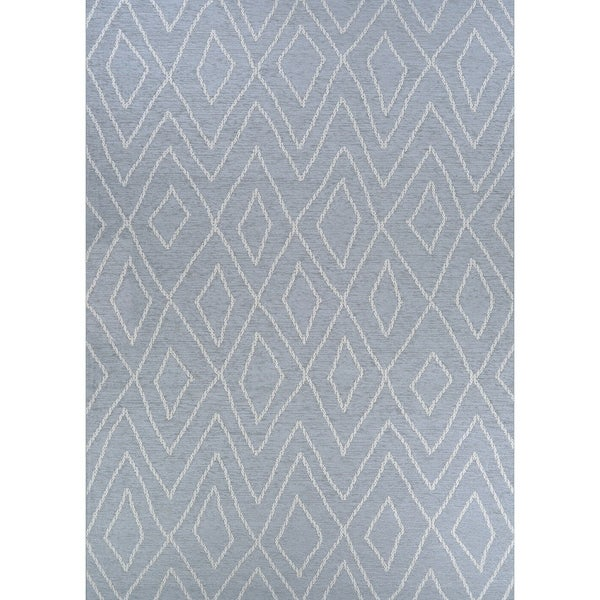 Shop Woodland Hollow Blue Indoor Outdoor Area Rug 7 7 X 10 9