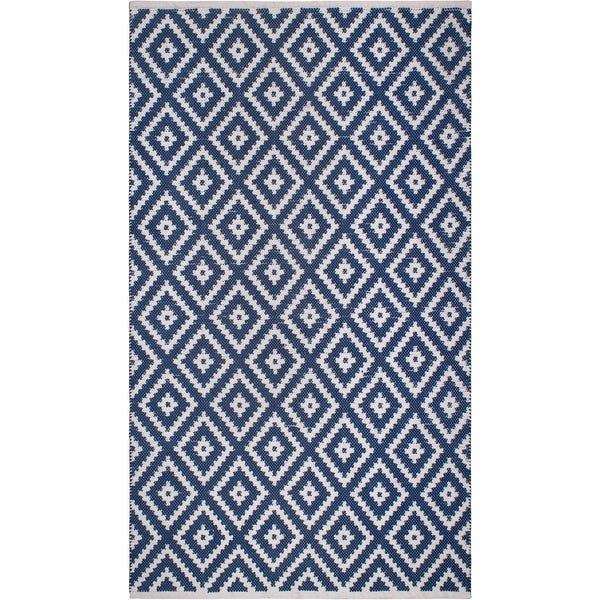 Handmade Chanler Blue Indoor/Outdoor Floor Rug (India) - 6' x 9'