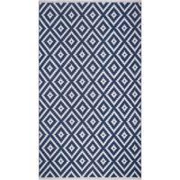 Fab Habitat, Indoor Outdoor Floor Rug Chanler - Blue (6' x 9') - PET