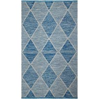 Fab Habitat, Indoor Outdoor Floor Rug Hampton - Blue (4' x 6') - PET