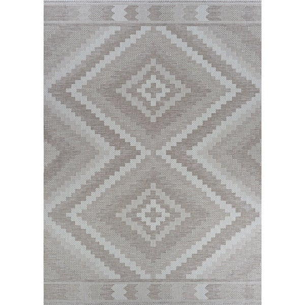 Jagher Tripoli Tan Indoor/Outdoor Area Rug - 2' x 3'7""