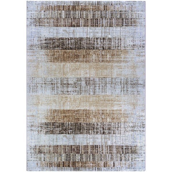 """Chapman Faded Stripes Ivory-Brown Area Rug - 7'10"""" x 11'2"""""""