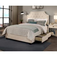 Audrey Upholstered Tufted Storage Bed with Nail Head Trim