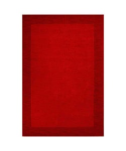 Shop Hand Tufted Red Border Wool Rug 5 X 8 Free
