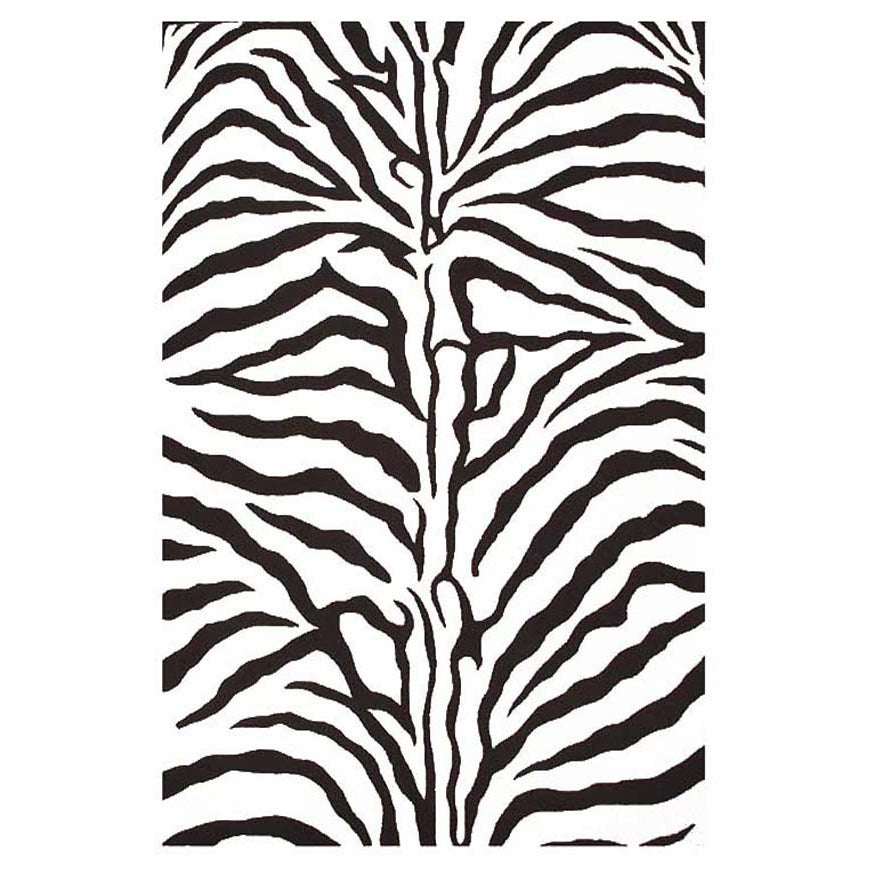 Acura Homes Contemporary Hand-Tufted Zebra-Stripe Wool Ru...