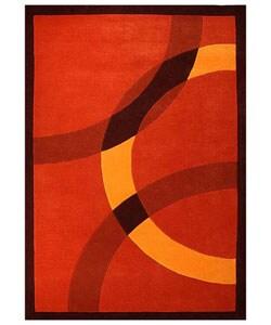 Hand-tufted Mystical Orange Wool Rug - 5' x 8' - Thumbnail 0