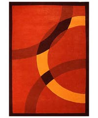 Hand-tufted Mystical Orange Wool Rug - 8' x 10'6