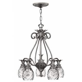 Buy hinkley lighting ceiling lights online at overstock our hinkley plantation 5 light chandelier in polished antique nickel aloadofball Gallery