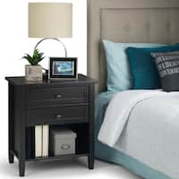 WYNDENHALL Norfolk Solid Wood Bedside Accent Table