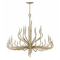 Fredrick Ramond Spyre 9-Light Chandelier in Champagne Gold