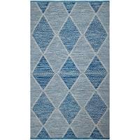 Fab Habitat, Indoor Outdoor Floor Rug Hampton - Blue (6' x 9') - PET