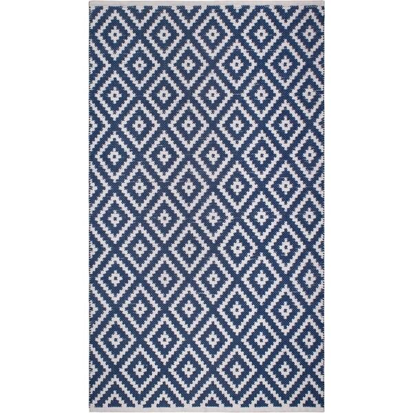Handmade Chanler Blue Indoor/Outdoor Floor Rug (India) - 8' x 10'